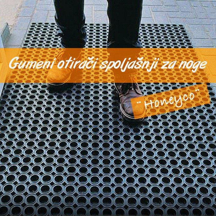 Honeyco-Otiraci spoljni gumeni,za noge Podne podloge:spoljni otirači:antikl